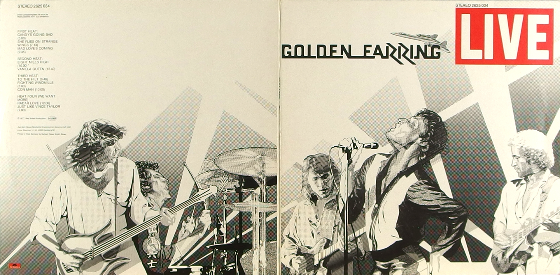LP Cover: Golden Earring - Live - 1977