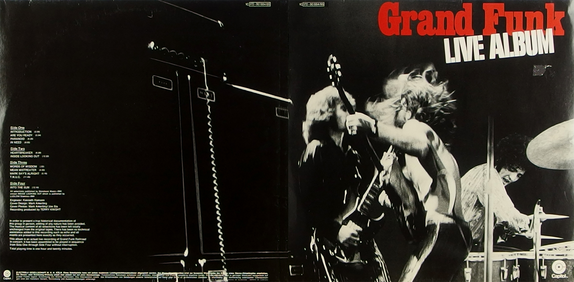 LP Cover: Grand Funk Railroad - Live Album - 1971