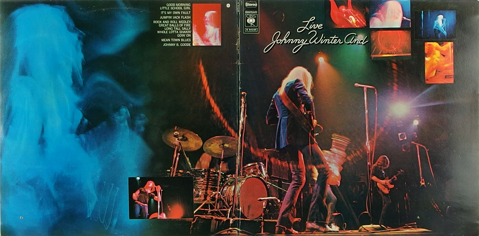 LP Cover: Johnny Winter - Live - 1971