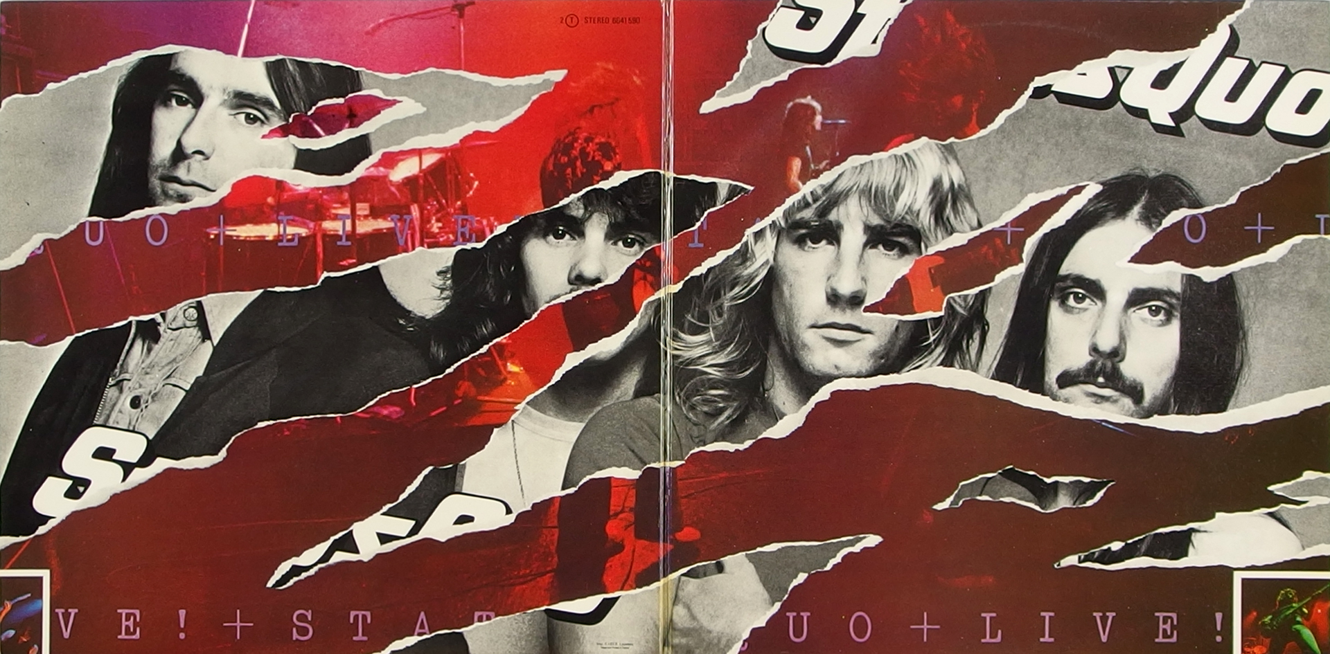 LP Cover: Status Quo - Live - 1976