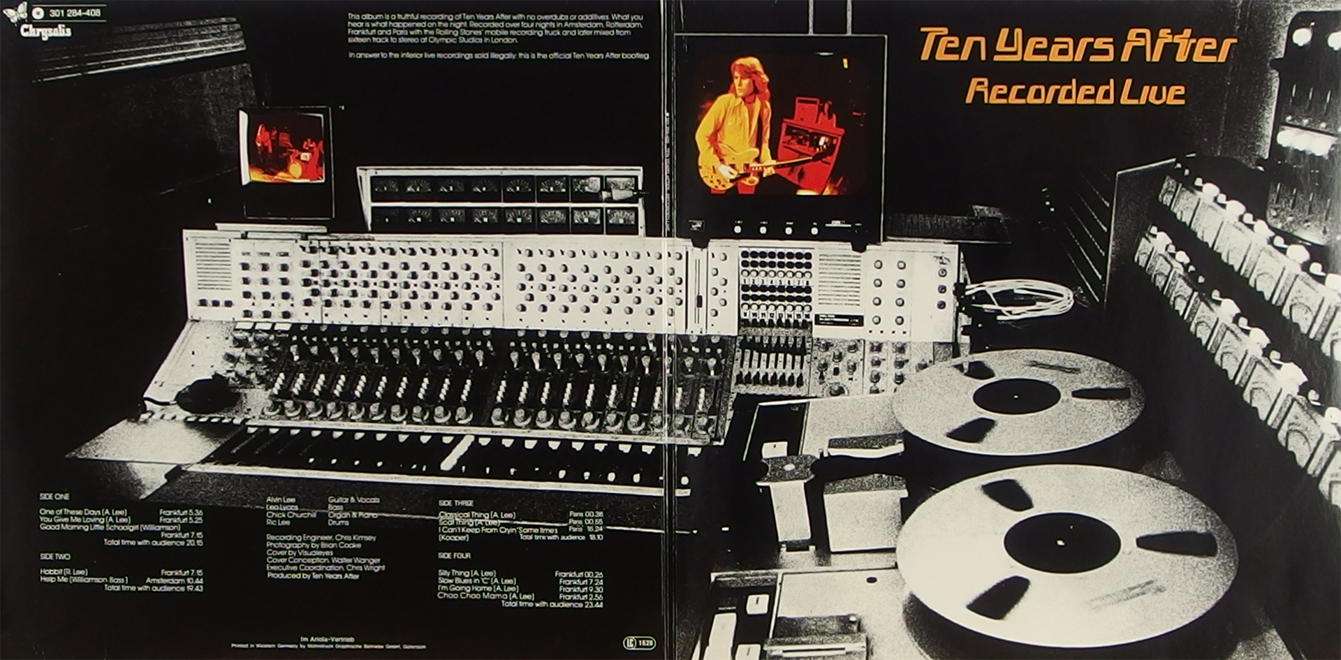 LP Cover: Ten Years After - Recorded Live - 1973